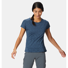 Mountain Hardwear Mighty Stripe T-shirt Dames, zinc